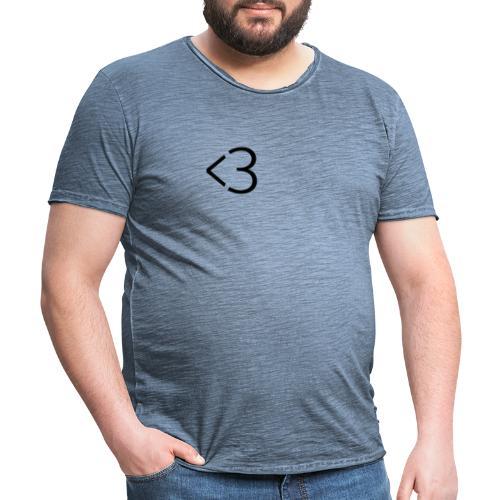 <3 - Herre vintage T-shirt