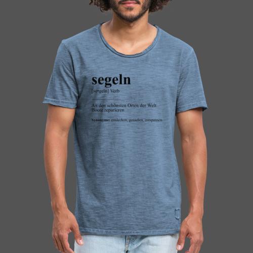 segeln Definition Tshirt Boot reparieren - Männer Vintage T-Shirt