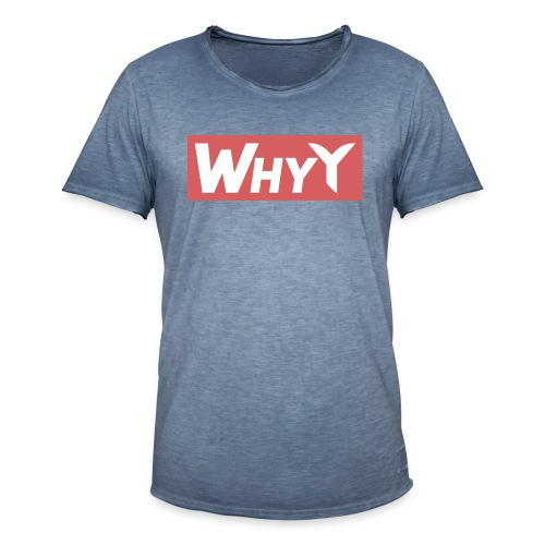 Block Red | WhyY - Men's Vintage T-Shirt