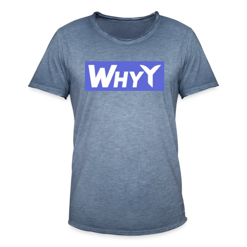 Block Blue | WhyY - Men's Vintage T-Shirt