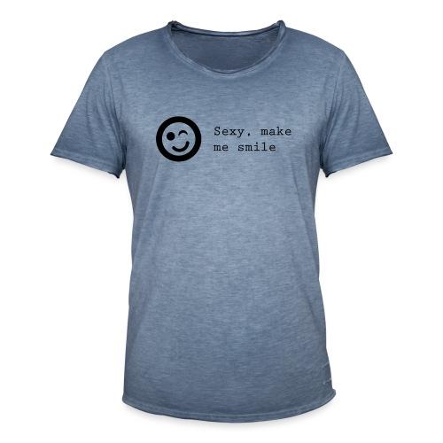 Sexy make me smile - Herre vintage T-shirt