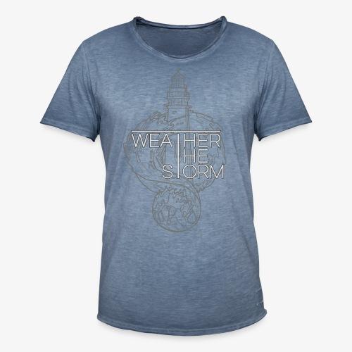 Weather The Storm Logo - Maglietta vintage da uomo