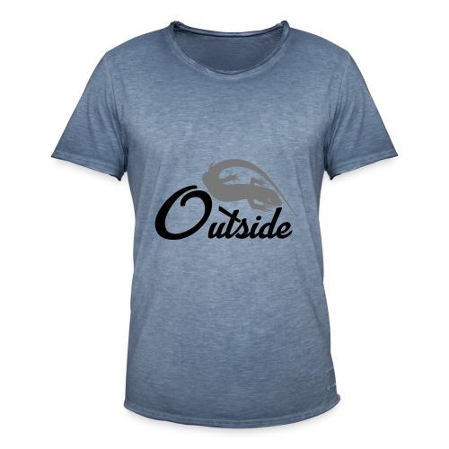 Outside - Männer Vintage T-Shirt