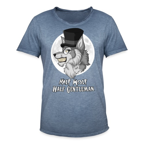 Half Wolf Half Gentleman - Koszulka męska vintage