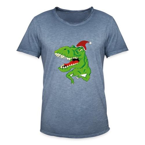 Navidad dinosaurio - Camiseta vintage hombre