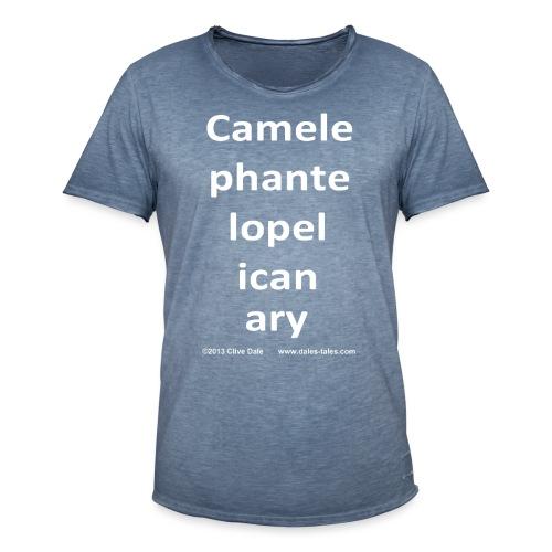 camelepha 5lines white - Men's Vintage T-Shirt