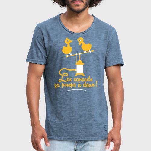 Les canards ça pompe à deux - T-shirt vintage Homme