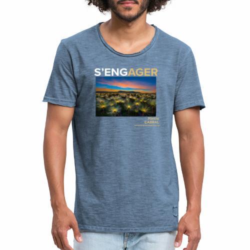 1 Achat = 1 don à la Fondation Nicolas Hulot - T-shirt vintage Homme