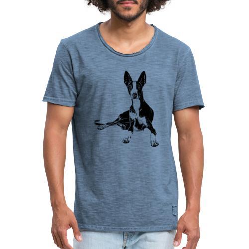 Podenco Hunde Design Geschenkidee - Männer Vintage T-Shirt
