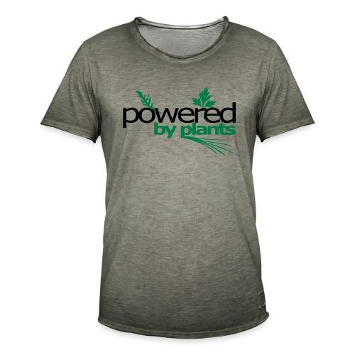 POWERED BY PLANTS - Männer Vintage T-Shirt