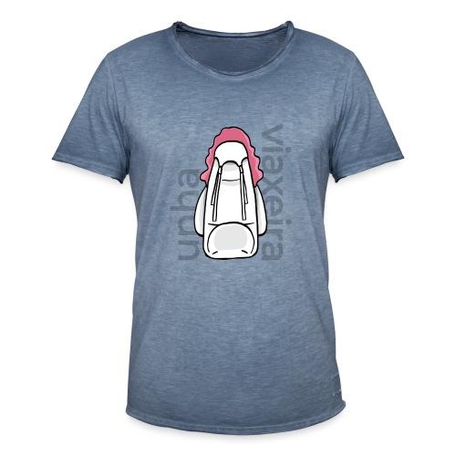 Unha viaxeira - Camiseta vintage hombre