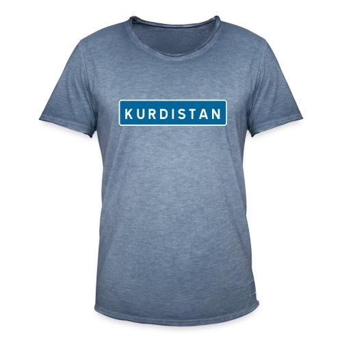 Kurdistanskylt - Vintage-T-shirt herr
