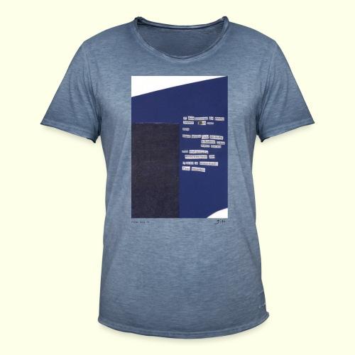poème bleu 01 - T-shirt vintage Homme