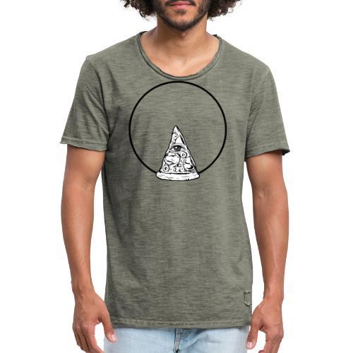 All sehendes Auge Pizza (schwarzer Druck) - Männer Vintage T-Shirt