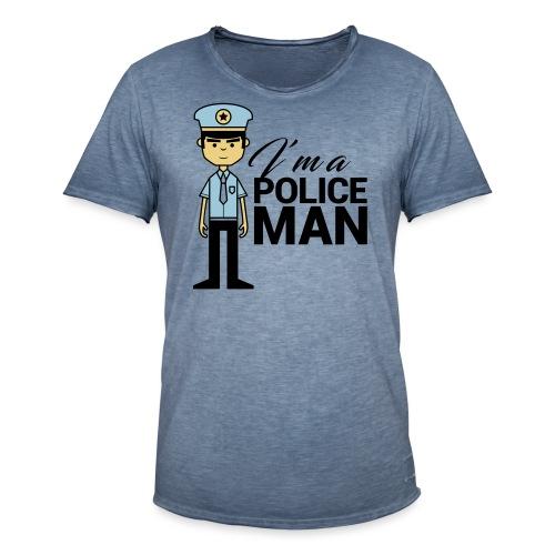POLICEMAN - Maglietta vintage da uomo