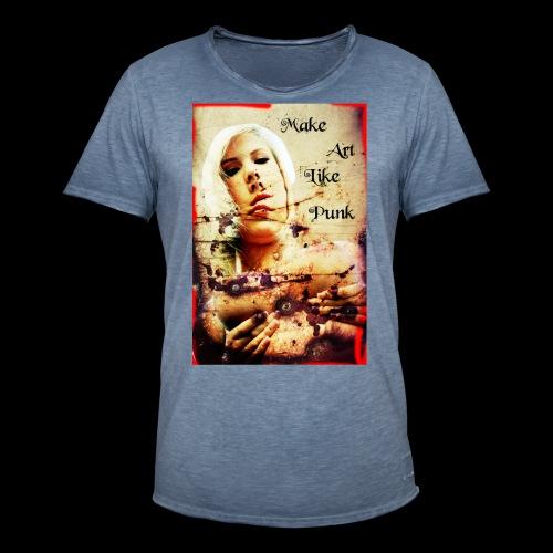 Make Art Like Punk - T-shirt vintage Homme
