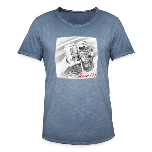 Homies Design - Camiseta vintage hombre