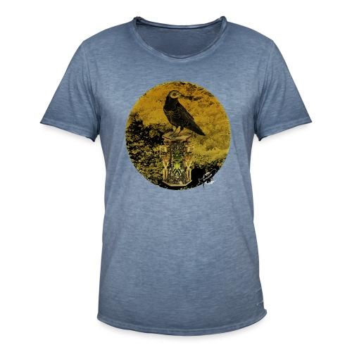 'Memento Mori', round w. logo by BlackenedMoonArts - Herre vintage T-shirt