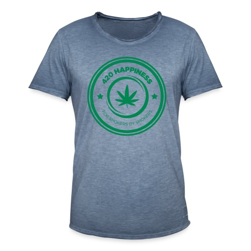 420_Happiness_logo - Herre vintage T-shirt