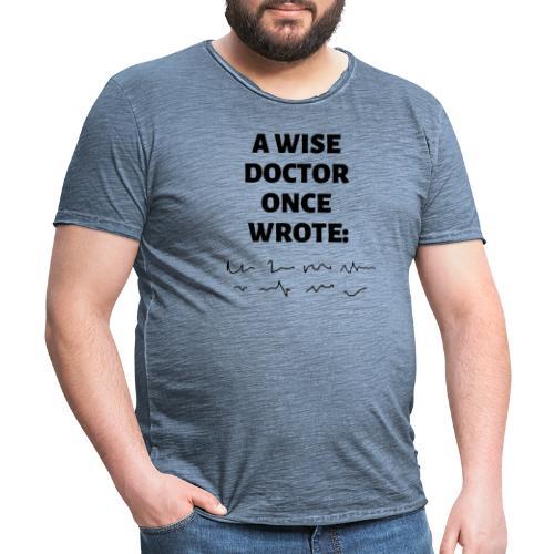 Morsomt motiv til doktor - Vintage-T-skjorte for menn