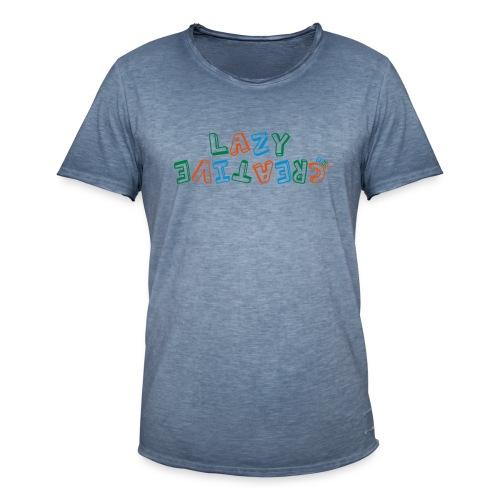 LC PUM Org logo White - Vintage-T-shirt herr