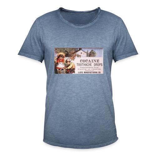 Kokain Werbung - Männer Vintage T-Shirt