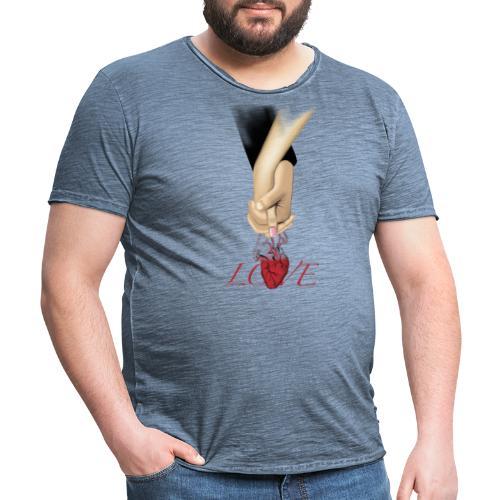 Love hand - Männer Vintage T-Shirt