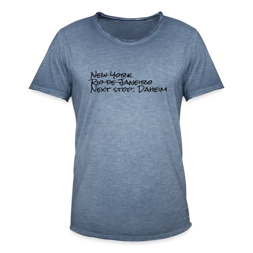 Reisefrust statt Reiselust - Männer Vintage T-Shirt