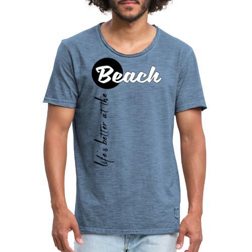 Strandleben - Männer Vintage T-Shirt