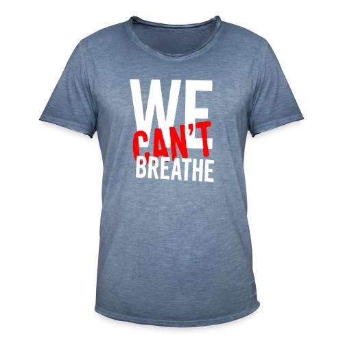 I Can't Breathe Men's T-Shirt Outdoor Sports Shirt - Maglietta vintage da uomo