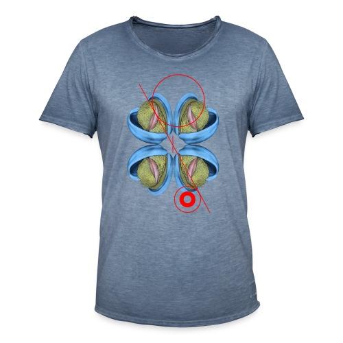 Kreis und Linie - Männer Vintage T-Shirt