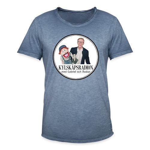 Kylskåpsradions logga - Vintage-T-shirt herr