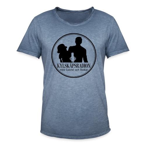 Logga helsvart - Vintage-T-shirt herr