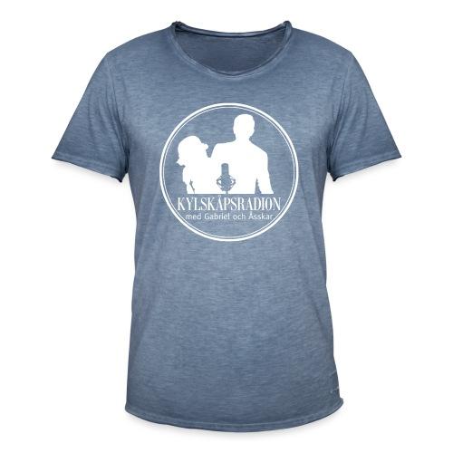 Logga helvit - Vintage-T-shirt herr