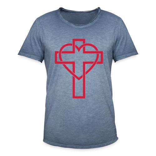 Croix Glorieuse d'Amour - Jésus - T-shirt vintage Homme