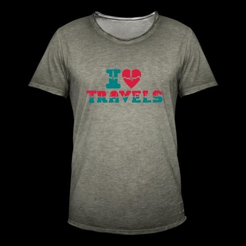 i love travels for life - Men's Vintage T-Shirt