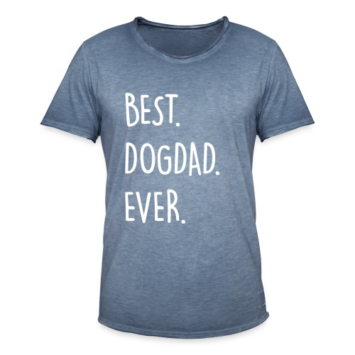 Vorschau: best dogdad ever - Männer Vintage T-Shirt