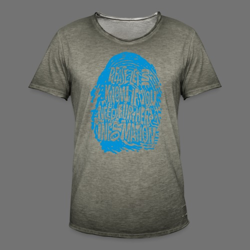 Fingerprint DNA (blue) - Männer Vintage T-Shirt