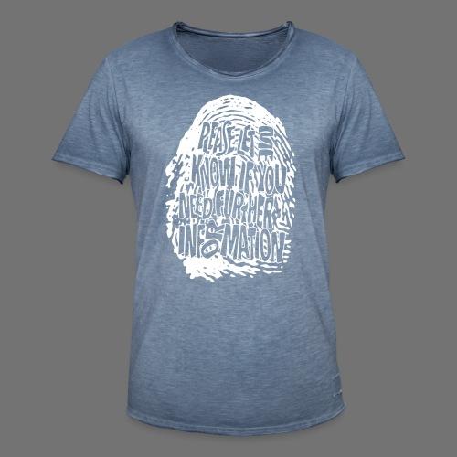 Fingerprint DNA (hvid) - Herre vintage T-shirt