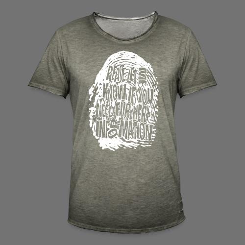 Fingerprint DNA (white) - Männer Vintage T-Shirt