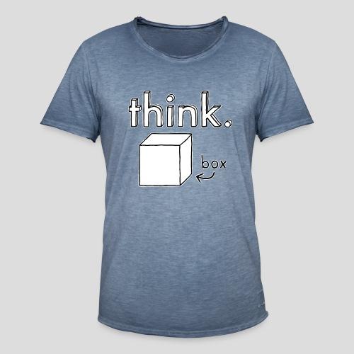 Think Outside The Box Illustration - Men's Vintage T-Shirt