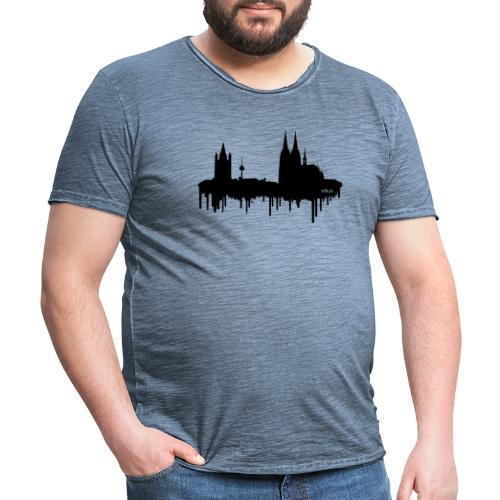 Skyline Köln - Schwarz - Männer Vintage T-Shirt