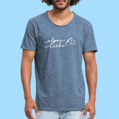 Alpenliebe - Männer Vintage T-Shirt