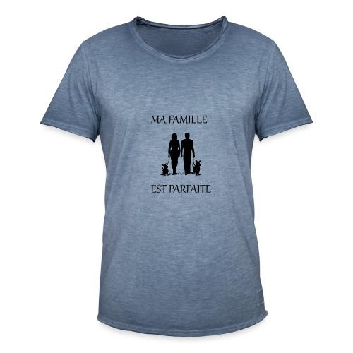 Ma famille est parfaite - T-shirt vintage Homme
