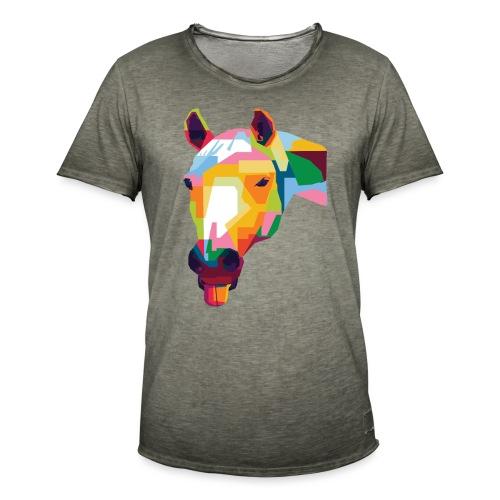 Pferde WPAP Design - Männer Vintage T-Shirt