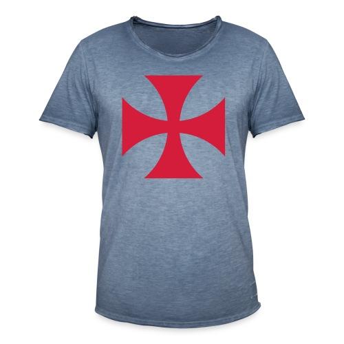 The Templar Cross Shirt - Männer Vintage T-Shirt