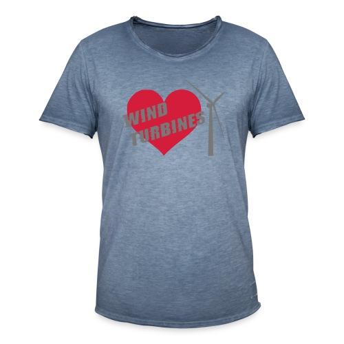 wind turbine grey - Men's Vintage T-Shirt