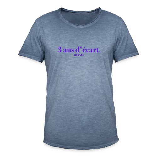 3 Ans D'écart - Nom & Localisation - T-shirt vintage Homme