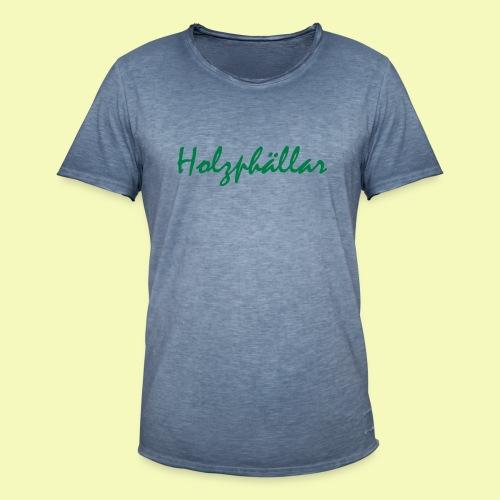 Schriftzug Grün - Männer Vintage T-Shirt