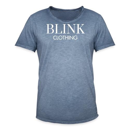 Blink TEKST - Mannen Vintage T-shirt